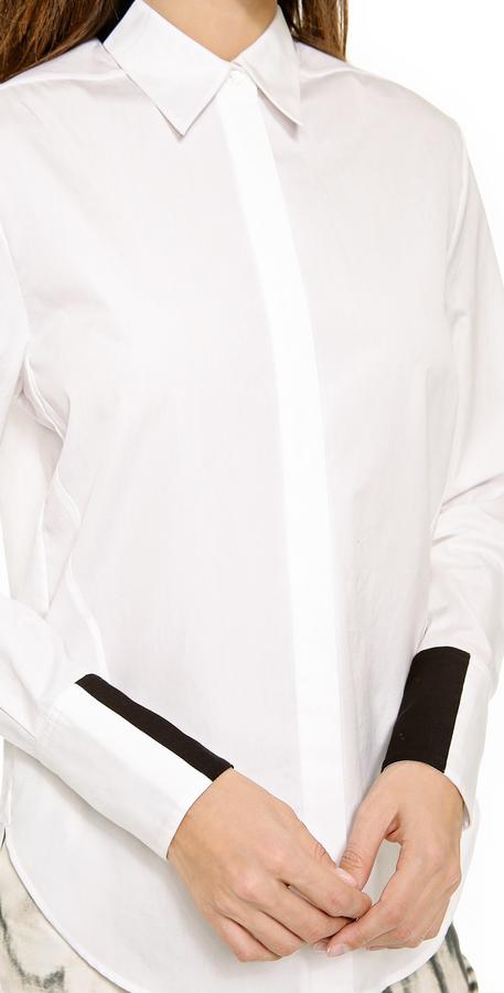 3.1 Phillip Lim Shadow Button Down Shirt