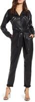 Blank NYC Blanknyc Faux Leather Long Sleeve Boilersuit