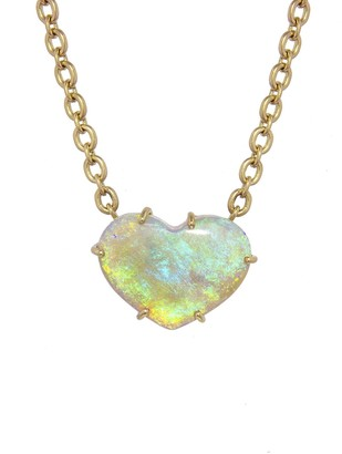 Irene Neuwirth 7.19 Carat Opal Heart Yellow Gold Necklace