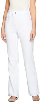 Quacker Factory DreamJeannes Regular Pull-On 5 Pocket Boot Cut Pants