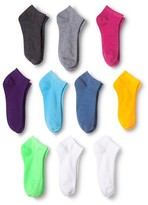 Modern Heritage Women's Solid Neon Low Cut Sock 10-Pack - Fresh White Opaque 9-11