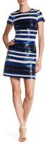 GUESS Short Sleeve Sequin Dress