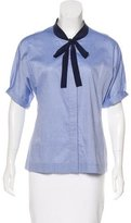 Elizabeth and James Woven Button-Up Top
