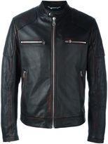 Dolce & Gabbana painted detail biker jacket