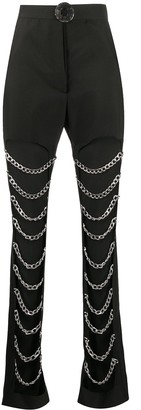 Loulou Open Leg Chain Detail Trousers