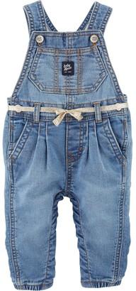 Osh Kosh Oshkosh Bgosh Baby Girl Knit Denim Overalls - Degrassi Wash