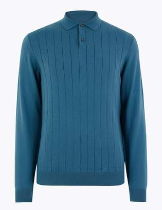Marks and Spencer Supima Cotton Knitted Polo Shirt