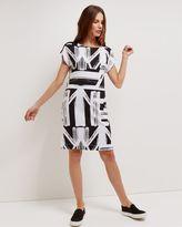 Jaeger Jersey Graphic Print Dress