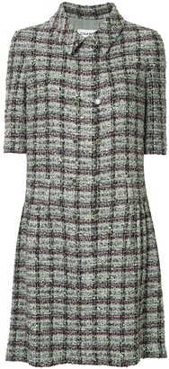 Chanel Pre Owned Short Sleeve Tweed One Piece Dress