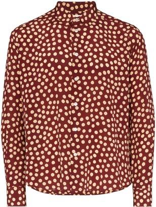 Saint Laurent Spot Print Tailored Shirt