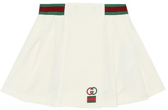 Gucci Kids Stretch-cotton piquA skirt