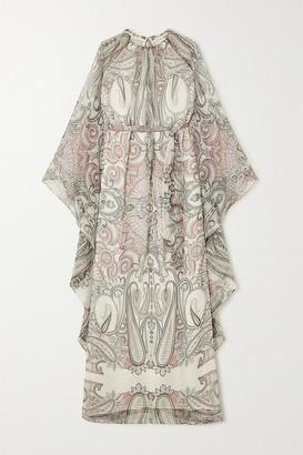 Etro Paisley-print Silk-chiffon Maxi Dress - Ivory