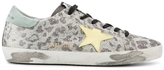 Golden Goose Deluxe Brand Sparkle Leather Leopard Sneakers