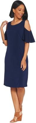 Belle By Kim Gravel Flirt Sleeve Cold Shoulder Dress