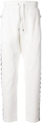 Ports V side V print track pants