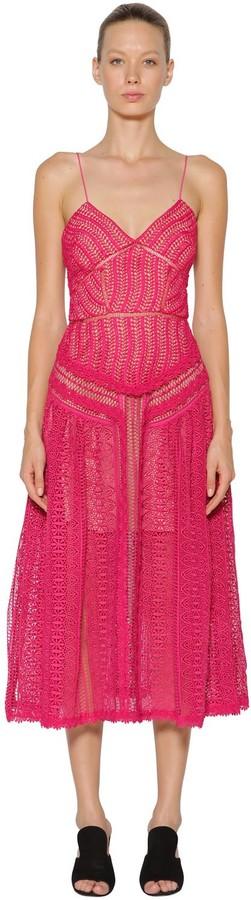 Self-Portrait Spiral Lace Panel Dress
