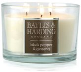 Baylis & Harding Triple Wick Candle - Black Pepper & Ginseng