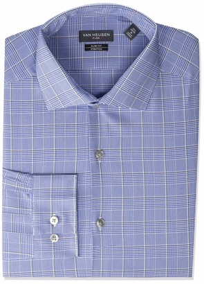 Van Heusen Men's Dress Shirt Slim Fit Flex Collar Stretch Check