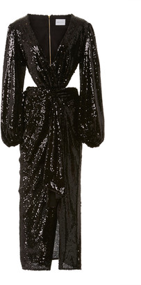 Alice McCall Electric Orchid Sequined-Chiffon Gown