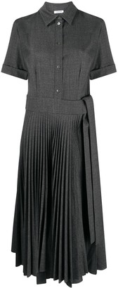 P.A.R.O.S.H. Short-Sleeve Pleated Shirt Dress