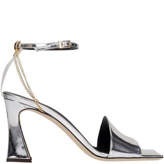 Giuseppe Zanotti Erhos Sandals In Silver Leather