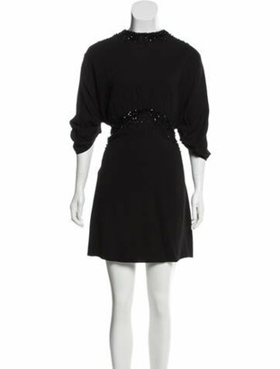 Prada Mini Embellished Dress w/ Tags Black