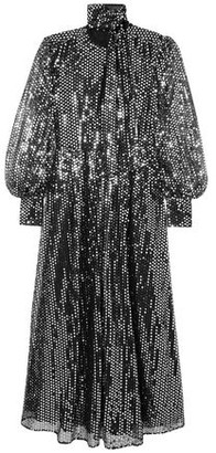 MSGM Sequined Tulle Maxi Dress