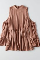 American Eagle Outfitters AE Cold Shoulder Hi-Neck Top
