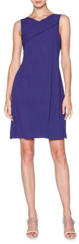 Giorgio Armani Sleeveless Grecian-Drape Dress, Indigo