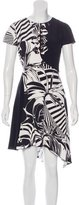 Versace Grommet-Accented Silk Dress