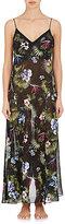 Fleur Du Mal Women's Tropical-Print Silk Slip Dress