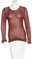 Chanel Mohair Open-Knit Sweater