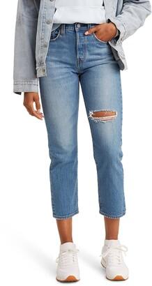 Levi's Wedgie High Waist Straight Leg Ankle Jeans