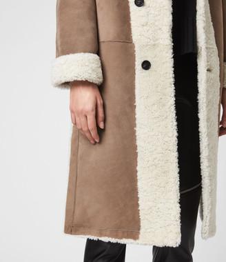 AllSaints Tia Reversible Shearling Coat