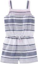 Joe Fresh Toddler Girls' Tank Playsuit, White (Size 2)