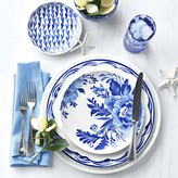 AERIN Sea Blue Floral Salad Plates, Set of 4