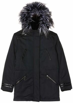 Ikks Junior Girl's Parka Longue Capuche Interieur Sherpa Raincoat