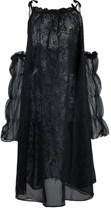 Renli Su oversized cold-shoulder dress