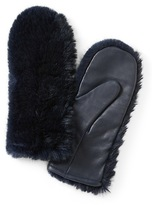Banana Republic Faux Fur and Leather Mittens