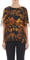 Lanvin WOMEN'S ANIMAL- & FLORAL-PRINT LAYERED BLOUSE