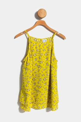 francesca's Raynelle Floral Layered Tank Top - Orange