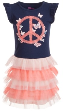 Epic Threads Toddler Girls Peace Sign Tiered Tutu Dress, Created for Macy's