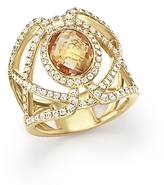 Bloomingdale's Citrine and Diamond Geometric Ring in 14K Yellow Gold - 100% Exclusive