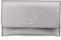 Prada Saffiano Flap Wallet