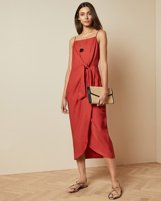 Ted Baker LAANI Knot detail drape dress