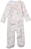Edgehill Collection Baby Girls Newborn-6 Months Rosette Printed Footed Coverall