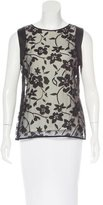 Halston Floral Patterned Sleeveless Top