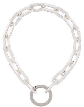 Marques Almeida Marques'almeida - Chunky Chain Silver Plated Choker - Womens - Silver