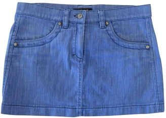Roberto Cavalli Blue Cotton Skirt for Women