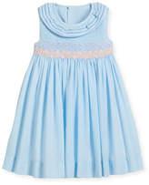 Luli & Me Smock Dress w/ Ruffle Neck, Size 12-24 Months